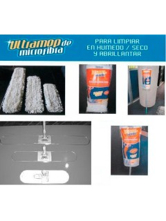 SET COMPLETO MOPA MICROFIBRA ULTRA MOP (BOUCLES) MEDIANO 26X75 CMS CAJA DE 6 UNIDADES