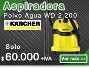 ASPIRADORA POLVO AGUA KARCHER WD 2.200