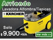 ARRIENDO LAVADORA DE ALFOMBRAS Y TAPICES KARCHER PUZZI 100 SUPER