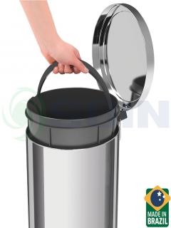 BASURERO ACERO INOX 30L TRAMONTINA