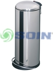 BASURERO ACERO INOXIDABLE 26 L
